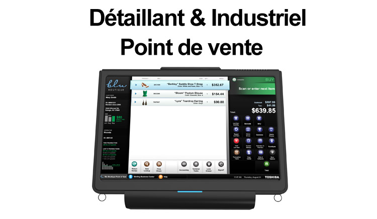 interface point de vente